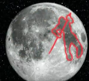 figura hombre luna